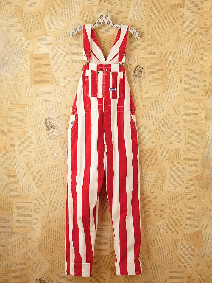 Lyst Free People Vintage Red And White Striped Painter