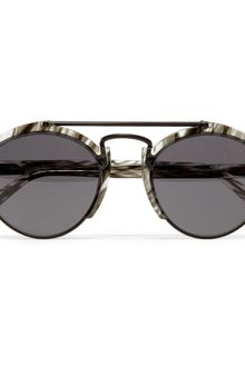 Illesteva Milan Acetate and Metal Round-frame Sunglasses - Lyst