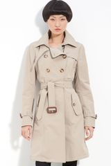Moncler Euphrasie Double Breasted Trench Coat - Lyst
