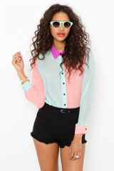 Nasty Gal Sugar High Blouse - Lyst