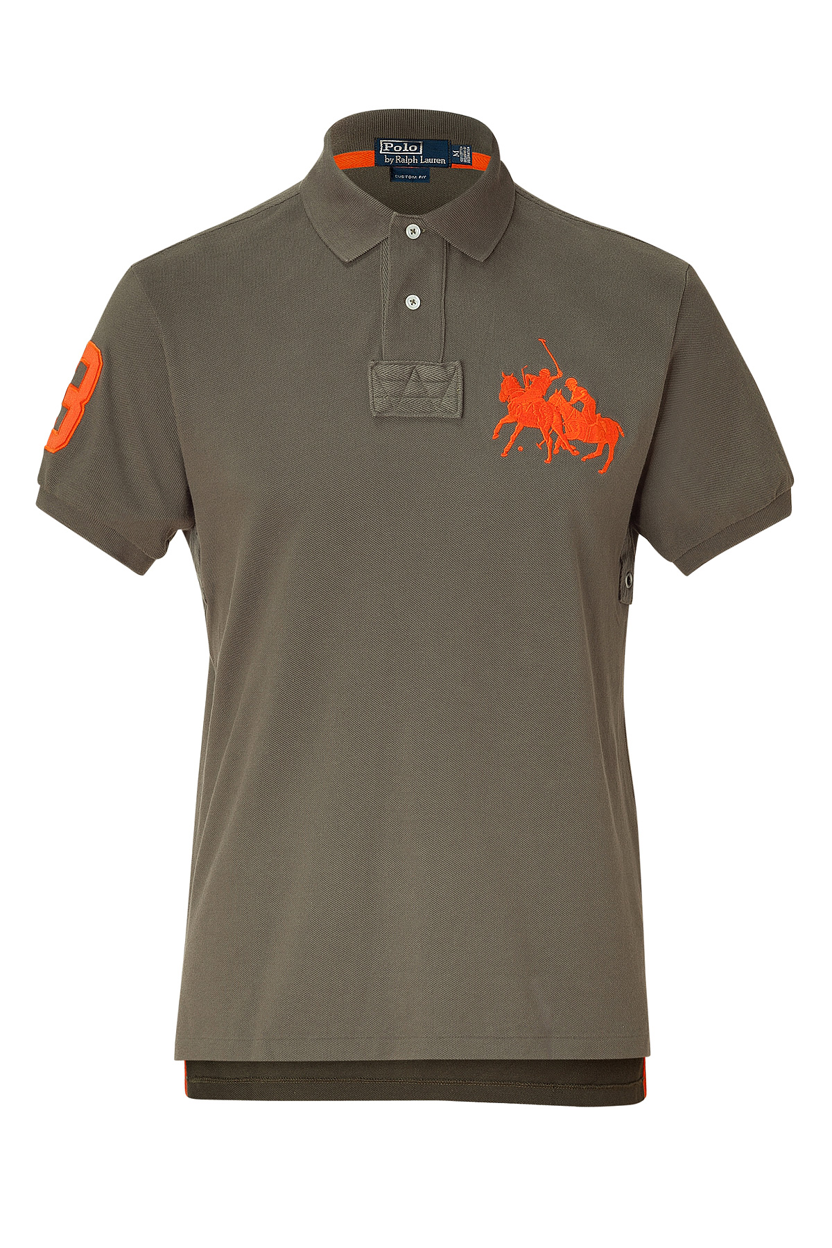 c8e90876 ... where to buy lyst polo ralph lauren expedition olive solid weathered mesh  polo 5d329 df75e