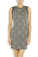 Sandro Reve Printed Stretch Cottonblend Dress in Gray (noir) - Lyst