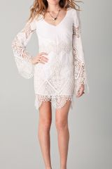Sheri Bodell Lace Inset Shift Dress