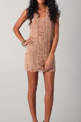 Sheri Bodell Moondust Laser Cut Dress - Lyst