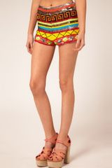 Asos Knicker Shorts with Mex Tex Sequins - Lyst