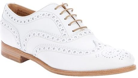 Church's Plain Brogue in White - Lyst