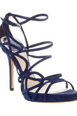 Dior Stiletto Sandal in Blue - Lyst