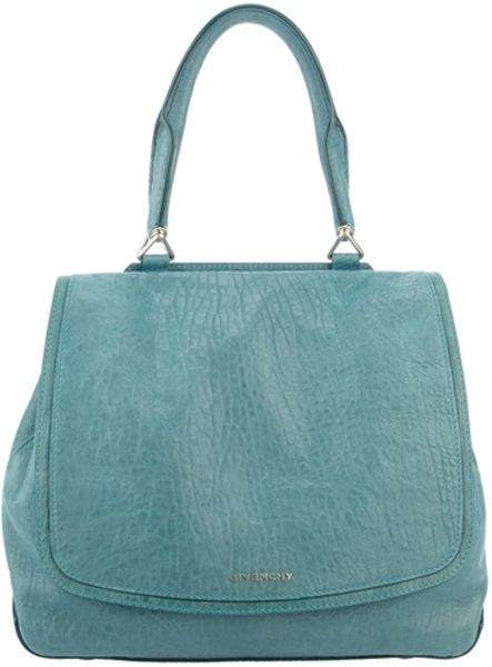 Givenchy Front Flap Handbag in Blue (teal)