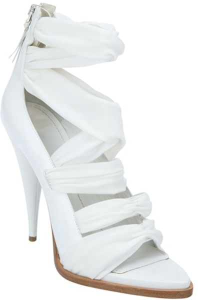 Givenchy Strappy Front Sandal in White - Lyst