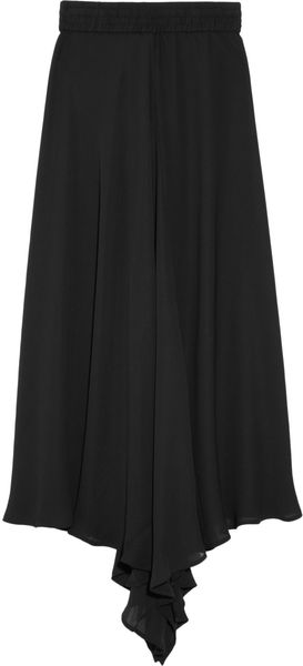 Oak Broome Asymmetric Georgette Skirt - Lyst