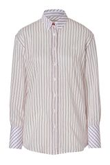 Paul Smith Pearl Striped Cotton and Silk Blend Top