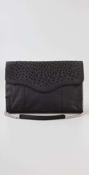 Rebecca Minkoff Cheetah Beau Oversized Clutch in Black - Lyst
