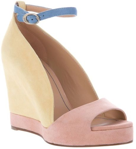 See By Chloé Colour Block Sandal in Pink (yellow) - Lyst