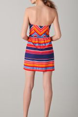 Shoshanna Frannie Striped Strapless Dress in Multicolor - Lyst