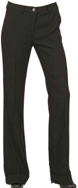 Space Crepe Cady Stretch Boot Cut Trousers in Black - Lyst