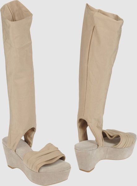 Strategia Wedges in Beige (sand) - Lyst