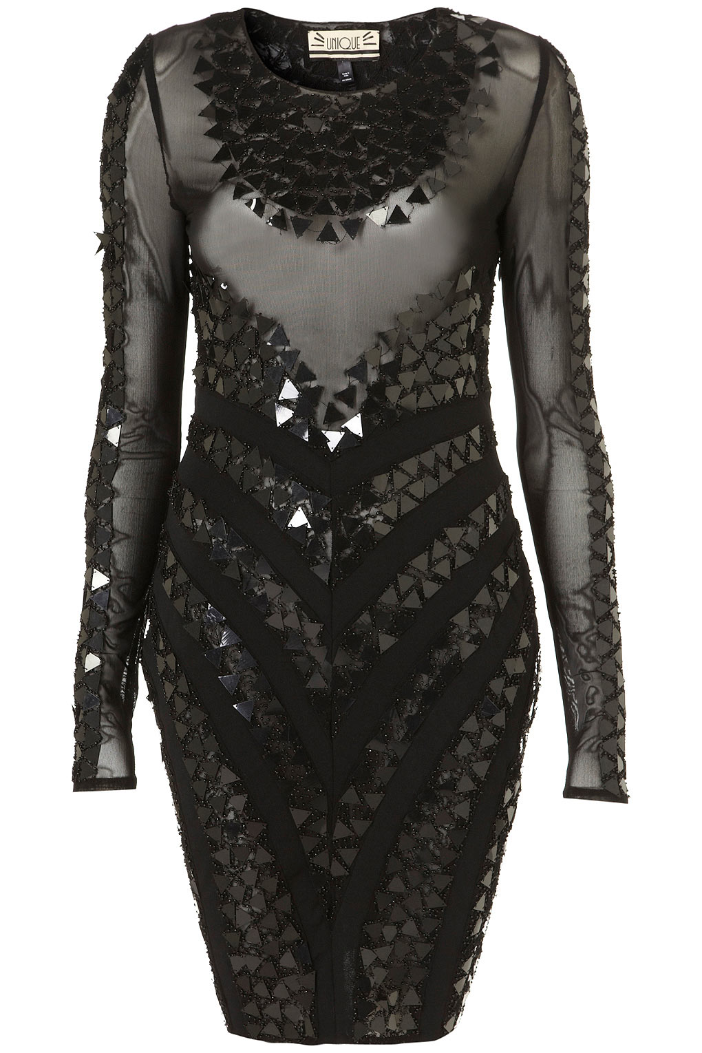 Topshop Pyramid Sequin Dress By Unique In Black Lyst