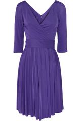 BCBGMAXAZRIA Cruz Pleated Crepejersey Dress - Lyst