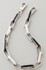 Marc By Marc Jacobs Enamel Turnlock Stripey Link Necklace - Lyst
