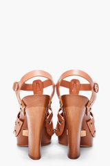 Marc Jacobs Tan Clog Heels in Brown (tan) - Lyst