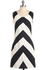 ModCloth At Long Contrast Dress - Lyst