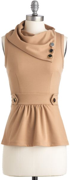 ModCloth Coach Tour Top in Sand - Lyst