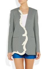 Stella Mccartney Ray Printed Crepe Jacket in Gray (blue) - Lyst