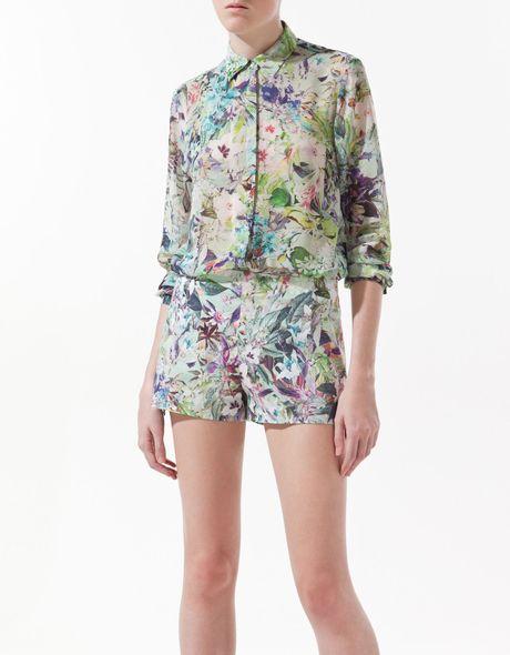 ??? Zara Floral Print Blouse 117