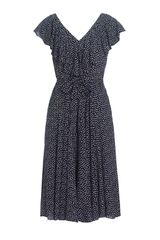 Jaeger Polka Dot and Frill Dress - Lyst