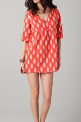 Joie Collie Leaf Print V Neck Cover Up - Lyst