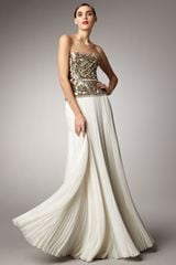 Marchesa Couture Beaded Bodice Gown - Lyst