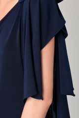 Thayer One Shoulder Goddess Dress in Blue (navy) - Lyst