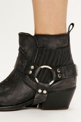 Free People Sugar Mountain Ankle Boot in Black - Lyst