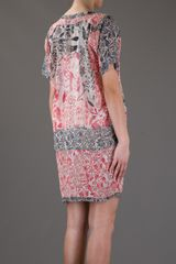 Isabel Marant Printed Dress in Red - Lyst