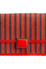 Marc By Marc Jacobs Stripey Straw Convertible Clutch - Lyst