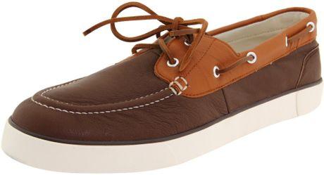 Polo Ralph Lauren Mens Sander Boat Shoe in Brown for Men (dark brown