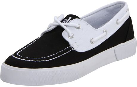 Lauren By Ralph Lauren Breeana Fashion Sneaker in Black (black/white) - Lyst