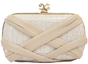 Alexandra De Curtis Rita Box Clutch Beige Crocodile and Lambskin - Lyst
