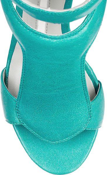 Camilla Skovgaard 120mm Leather Sandal Wedges In Blue