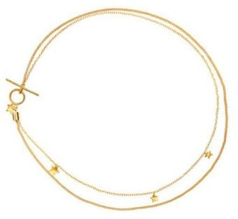 Emma Guest Jewellery Yellow Gold Star Necklace - Lyst