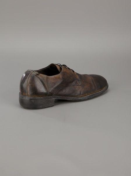 Guidi Kangaroo Leather Shoe In Brown For Men Lyst