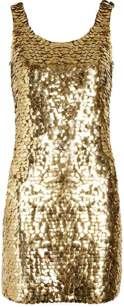 Moschino Pailletteembellished Crepe Mini Dress - Lyst