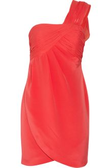 Notte By Marchesa Oneshoulder Silkcrepe Dress - Lyst