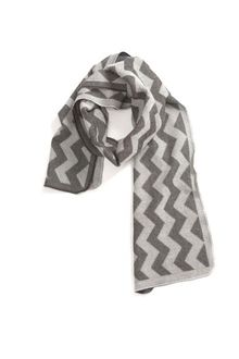 String Theory Chevron Scarf Grey - Lyst