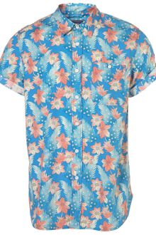 Topman Floral Pattern Short Sleeve Shirt - Lyst