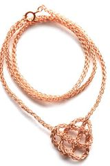 Yoola Celtic Heart Rose Gold Crochet Necklace