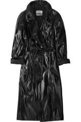 Yves Saint Laurent Crackleeffect Patent Trench Coat - Lyst