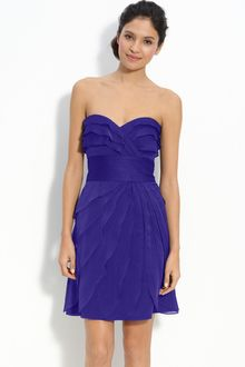 Adrianna Papell Tiered Iridescent Chiffon Dress - Lyst