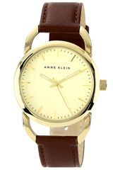 Ak Anne Klein Round Leather Strap Watch - Lyst