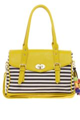 Aldo Whittiker Satchel in Yellow (navy) - Lyst